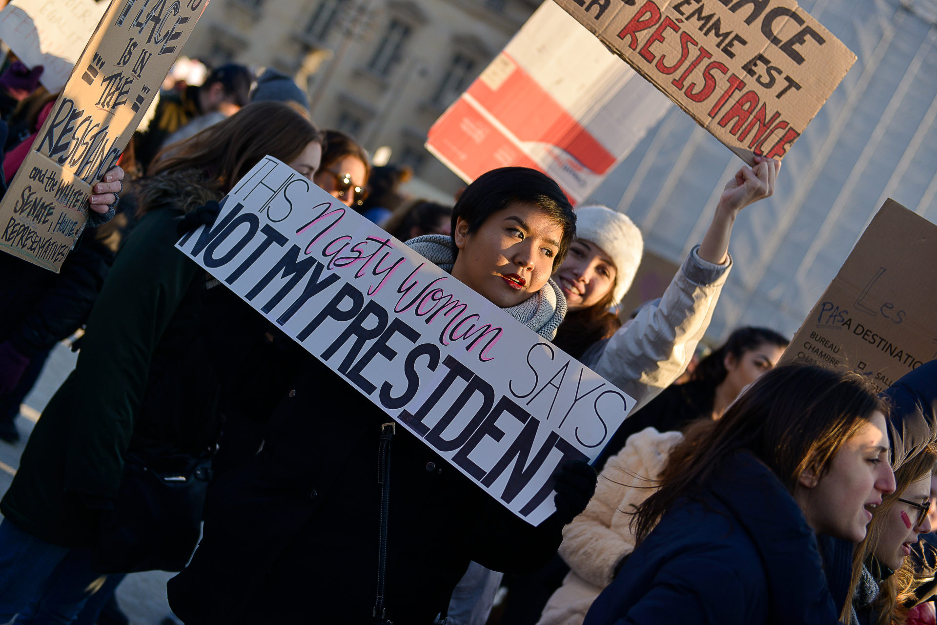 photo-manifestante-americaine-women-march-2017