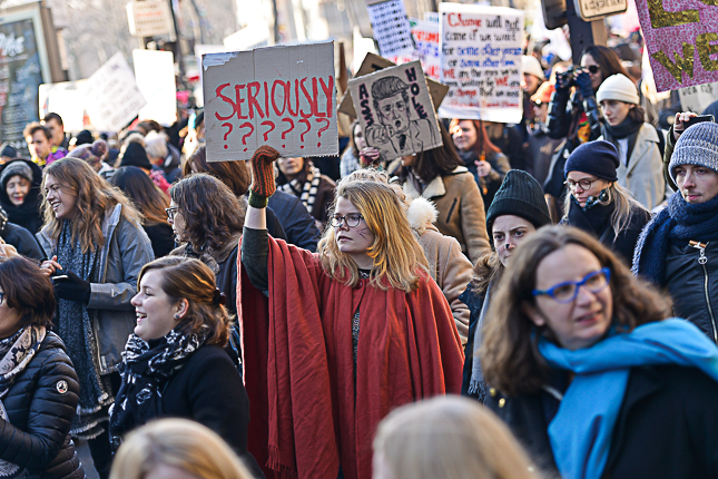 photo-manifestante-women-march-2017